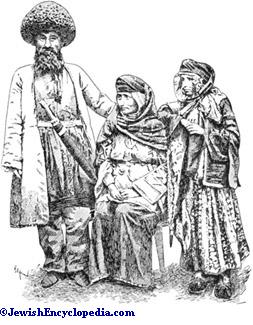 Costume jewishencyclopedia jews of the caucasus in native costume after a photograph by orden publicscrutiny Images